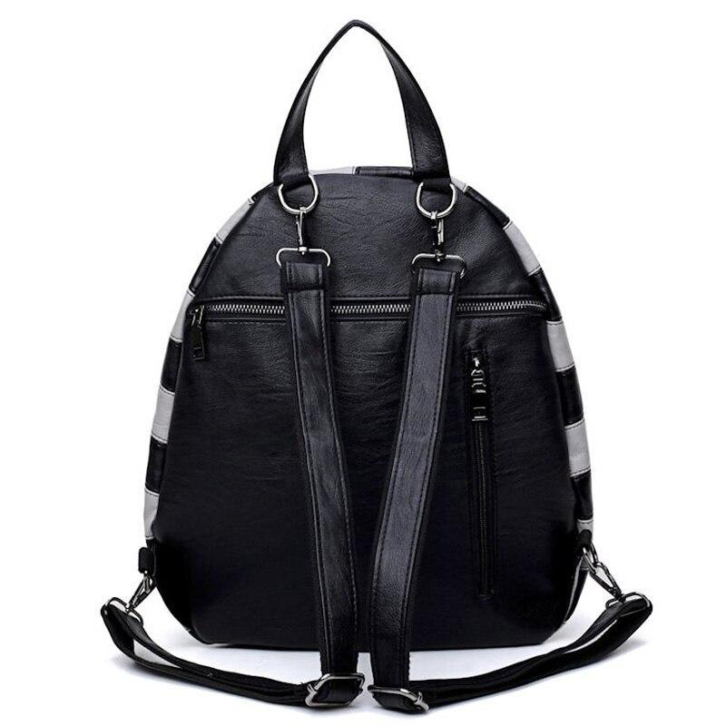 MLITDIS chapeau forme femmes voyage sac à dos pour adolescent motif zèbre sacs à bandoulière personnalité noir blanc rayé sac à dos nouveauté - 5