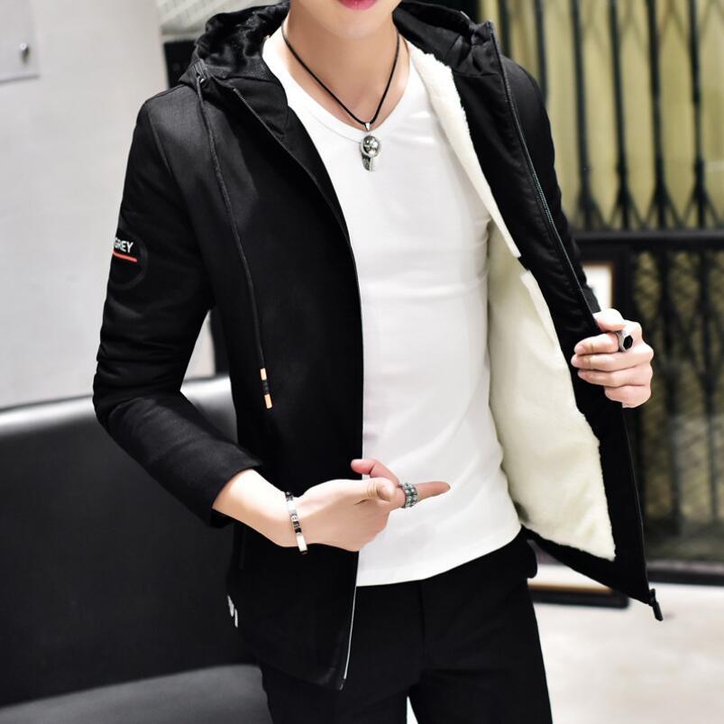 2018 veste d'hiver hommes à capuche Slim Parkas Hombre longue veste manteau cachemire Parkas coton jeunesse mode solide vêtements 3XL