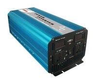 Бесплатная доставка 4000 Вт пик 2000 Вт (непрерывная) чистая синусоида Мощность инвертор DC 12 В к AC 220 230 В 240 В конвертер