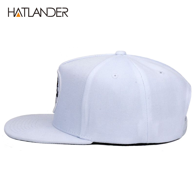 4e74f71f [HOT DEAL] US $15.80 for [HATLANDER]5 panel white baseball caps men women  sports hats bone gorras Chief original snapback hip hop cap hat for boys  girls
