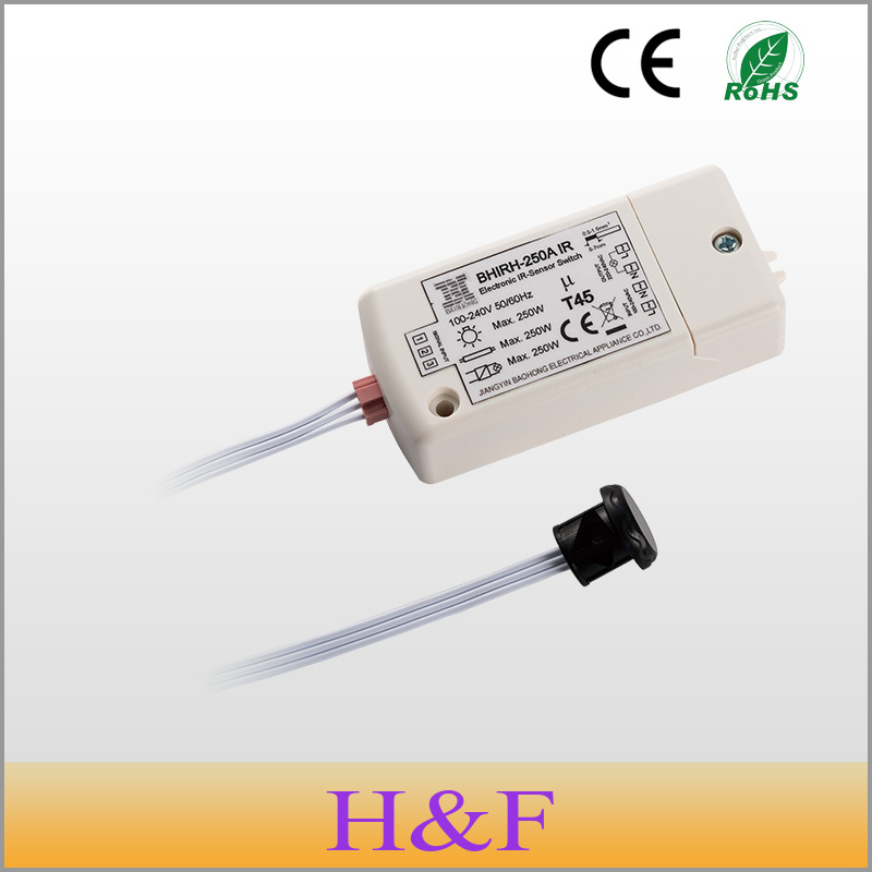 FreeShipping New 250W IR Sensor Switch 100 240V Intelligent Light Lamps Motion Sensing Switch IP20 For