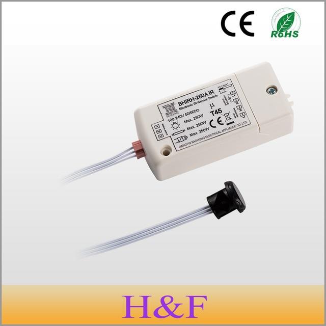 Newest Patented 250W IR Sensor Switch 100-240V Intelligent Light Lamps Motion Sensing Switch IP20 For Bathroom Cabinet Wardrobe