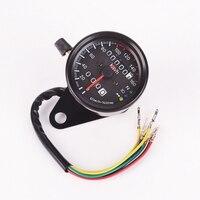 2016 Brand New Motorcycle Dual Odometer Speedometer Gauge LED Backlight Signal Light Universal Digital Speedometer