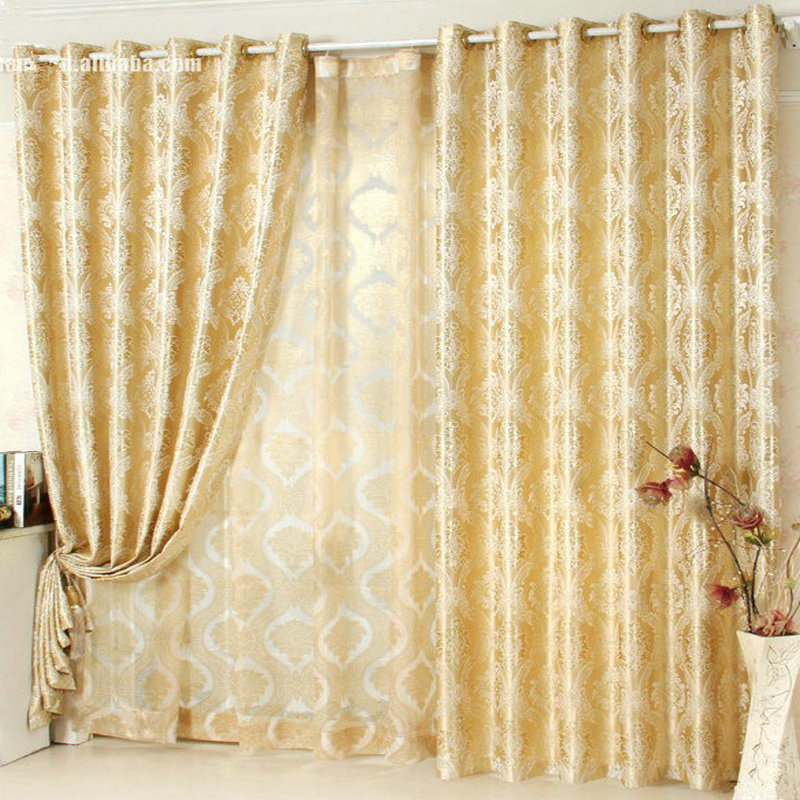 Blakcout Shade Curtains For Living Room Luxury Curtain Blue / Brown / Yellow /Grey Rural Window Treatment/drapery Free Shipping In Curtains From Home ...