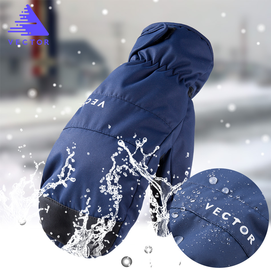 2-in-1 Handschuhe Ski Handschuhe Snowboard Männer Frauen Schnee Winter Sport Synthetische Isolierung Warme Wasserdichte Winddicht Skifahren angeln