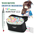 Sketch Markers Set TouchFive 168 Kleuren Tekening Markers Pen Alcohol Dual Headed Tips Permanents Graffiti Marker Pen voor Kinderen