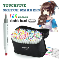 TouchFive 168 Colors Drawing Markers Pen Alcohol Dual Headed Tips For Manga Drawing Marker Design