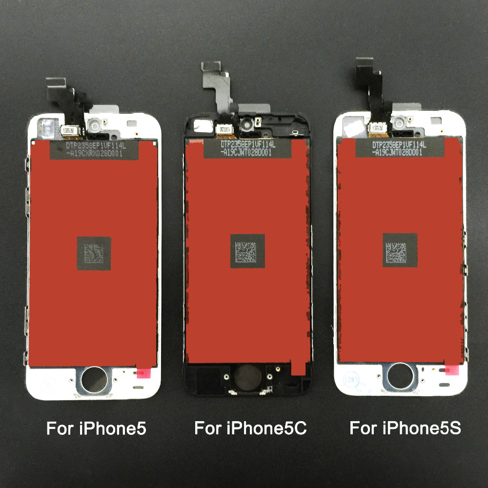 imágenes para 100% buena calidad de reemplazo para iphone 5 iphone 5c iphone 5s lcd con la pantalla táctil + ensamblaje de la pantalla digitalizador negro