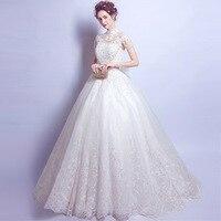 Длинные белые висит шеи вечернее платье, расшитое кристаллами пайетки короткий рукав Элегантный бальное платье Кружева Бисер аппликации с