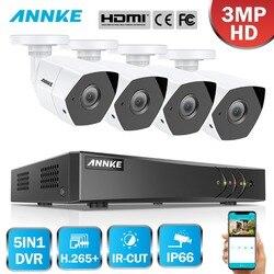 ANNKE Full HD 4CH 5w1 3MP domowy system bezpieczeństwa cctv zestaw z 3MP nadzoru Bullet kamera odporna na warunki atmosferyczne 3MP H.265 DVR w Systemy nadzoru od Bezpieczeństwo i ochrona na