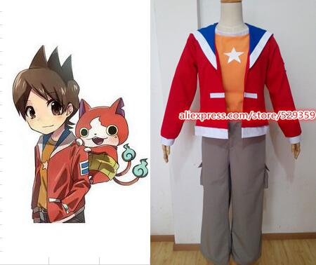 Anime giapponese Youkai Watch Cosplay Costume Amano Keita Cosplay Set Completo Con Soprabito