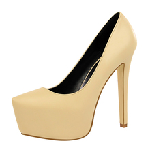 Women Super High Heels Pumps Sexy Dance Club Shoes Platform Fashion Thin Heel 2019 New Style Wine Red Shoe Party Female G0030
