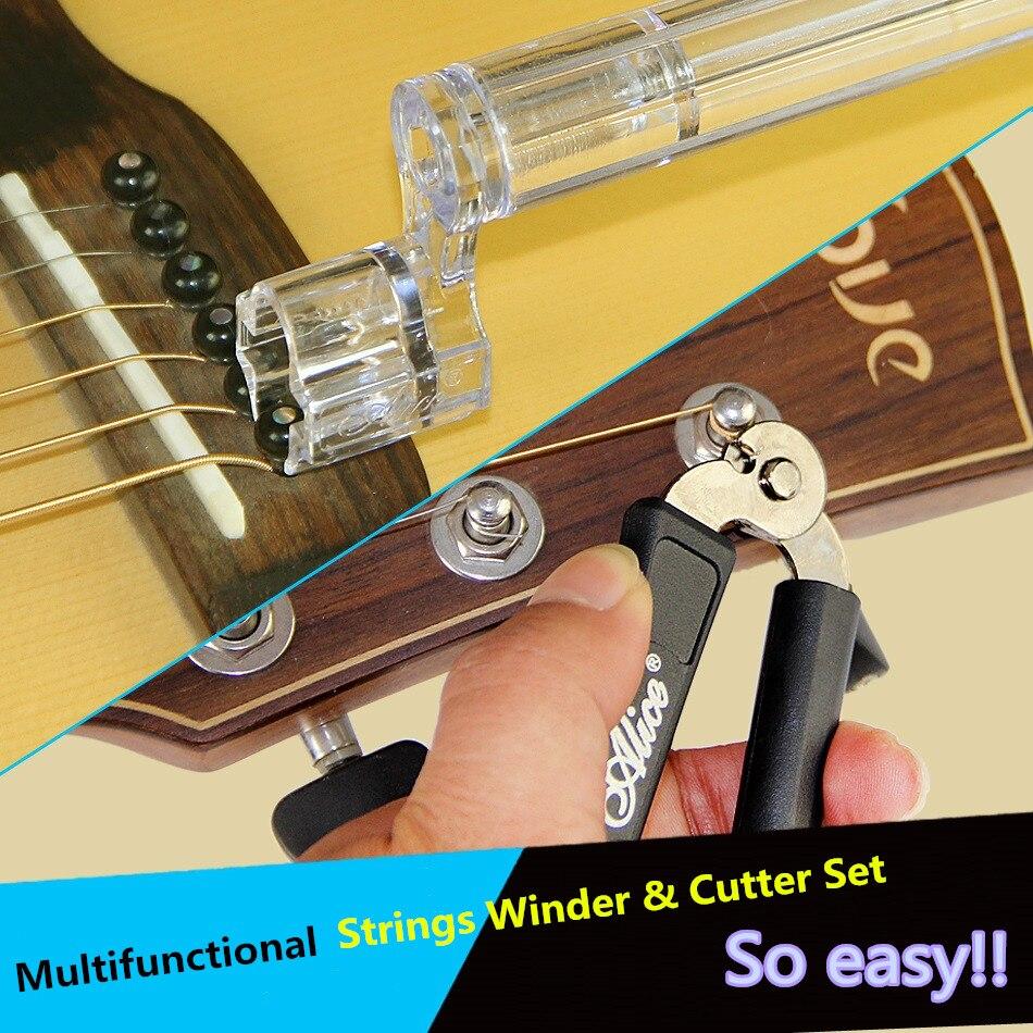 ALICE A1009A Multifunctional Strings Winder & Cutter Set for Bass Guitar Ukulele Violin