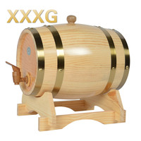 XXXG//oak barrels 5L barrels of wine cask wooden barrels stuffed Wine household wine storage cask Wine Port Liquor Wood French