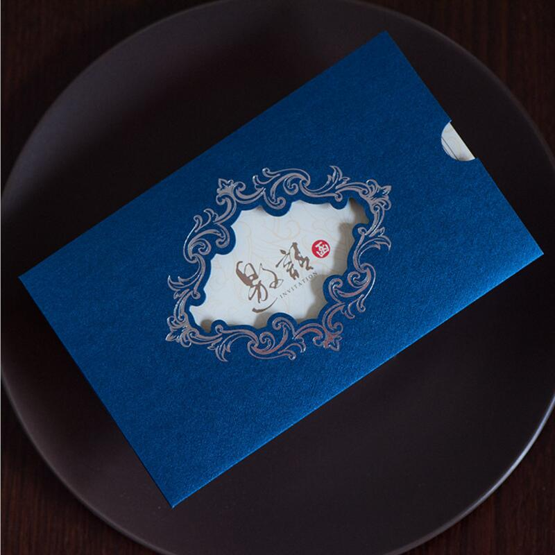 30pcs/lot Laser Cut Wedding Birthday Party Invitations Activity Meeting Opening House Moving Creative Invitation Card