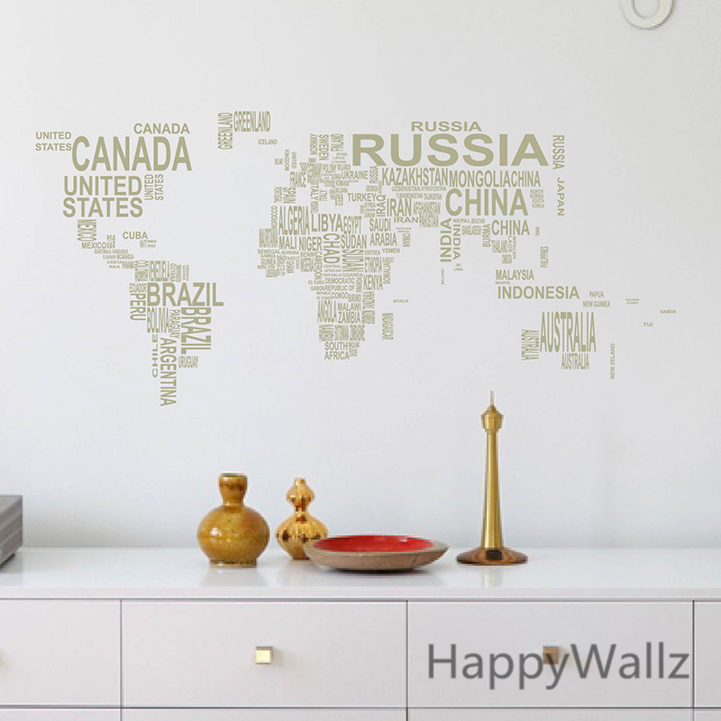 World map wall sticker map of the world wall decal 3d modern world map wall sticker map of the world wall decal 3d modern wallpaper map wall decal decorating modern decor m35 in wall stickers from home garden on gumiabroncs Gallery