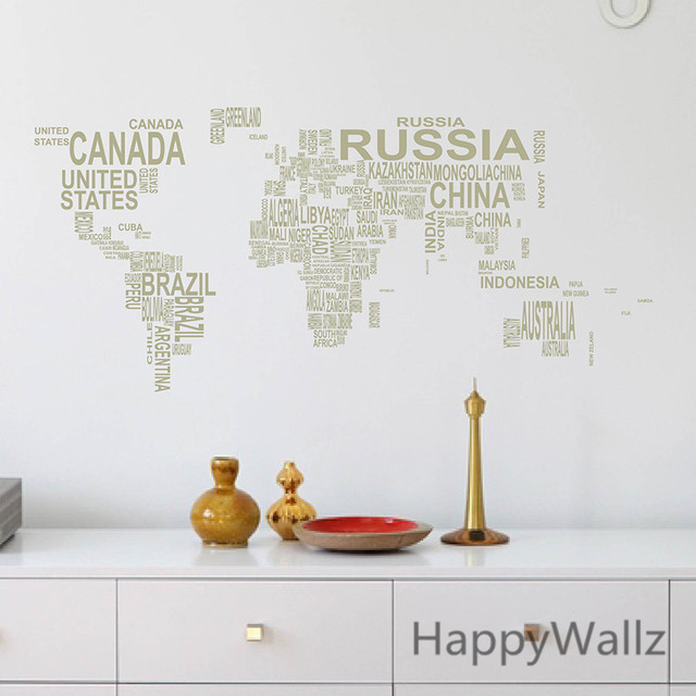 Online shop world map wall sticker map of the world wall decal 3d world map wall sticker map of the world wall decal 3d modern wallpaper map wall decal decorating modern decor m35 gumiabroncs Image collections