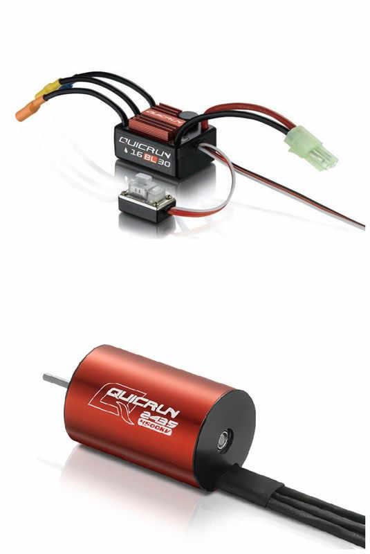 1 piezas Original Hobbywing QuicRun WP-16BL30 de velocidad sin escobillas controlador 30A RC coche ESC + 2435 4500kv motor