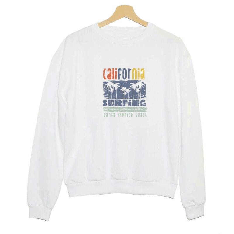 Temperate Hillbilly J-1071 Sweatshirt Comic Wind California Surf Vintage Print Ladies Long Sleeve Hoodie Womens White Satin Cotton Shirt Hoodies & Sweatshirts