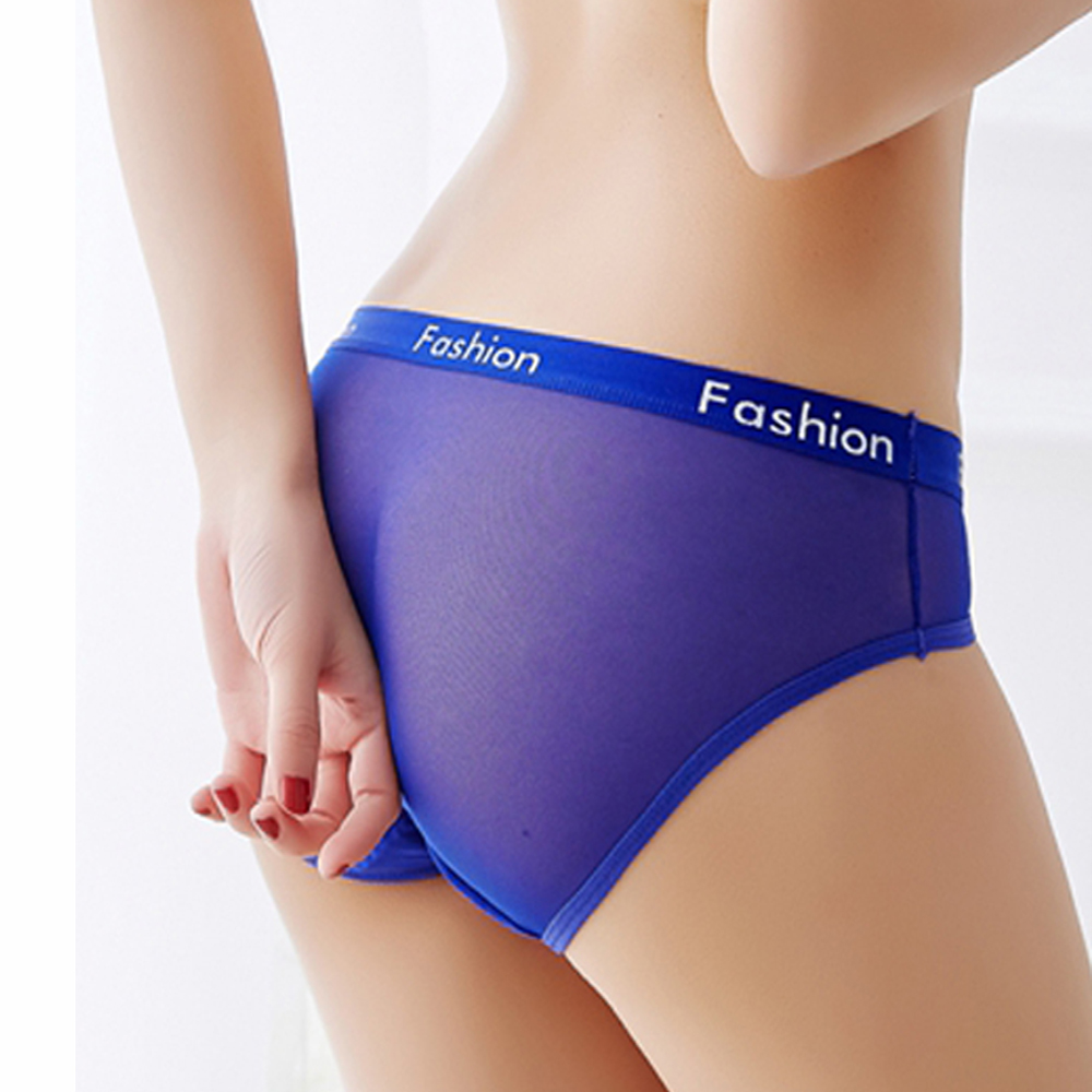 New Sport Style Women Sexy Ladies Cotton Mesh Transparent   Panties   Thongs String Fashion Low-Rise Women Underwear Seamless Briefs