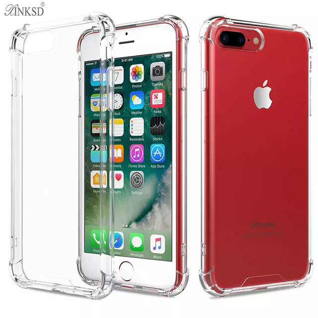 Xinksd Top Quality Airbag Design Anti Knock Case For Iphone X 8 7 6 Plus