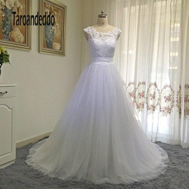 Robe de mariee avec dentelle sans manche