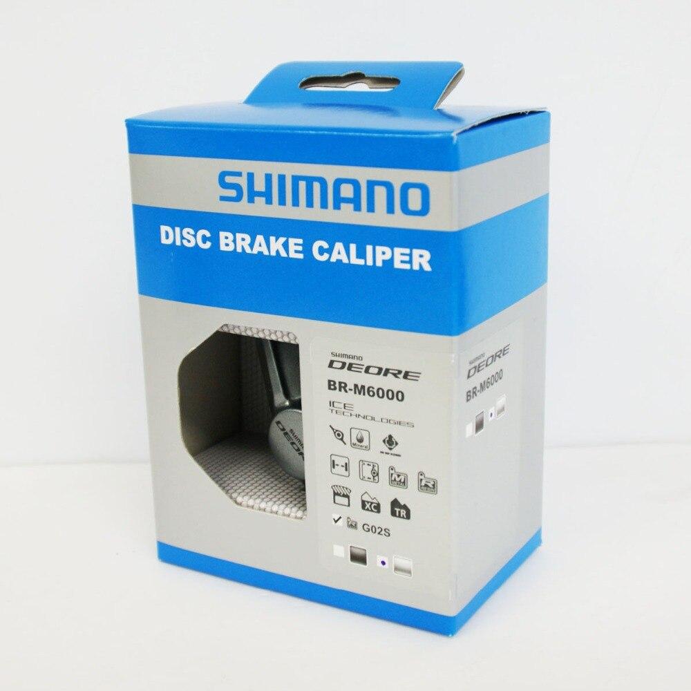 Original Shimano Deore vélo BR-M6000 frein à disque étrier avec plaquettes de frein en résine G02S gris NIB pièces de vélo
