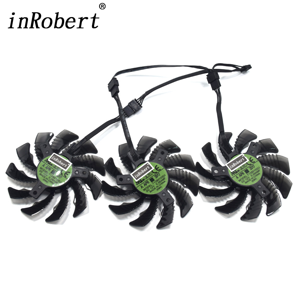 Everflow 75MM T128010SU 4Pin Cooler Fans For Gigabyte GTX 1080 Ti G1 1060 1070 GTX 970 980 Ti Graphics Card Cooling Fan