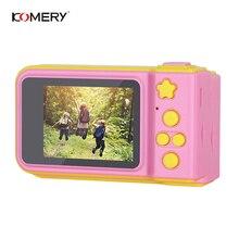 KOMERY детская цифровой Камера 2 дюймов Экран Дисплей мультфильм милый Камера подарок на день рождения 1080 P игрушки малыша видео Камера для Ki