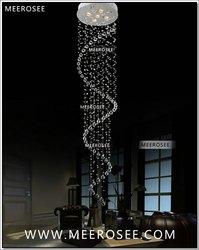 Sprzedaż hurtowa/detaliczna długie spiralne kryształ sufitu światło/lampy/oświetlenie oprawa do schodów/Foyer/korytarz gotowy magazynie