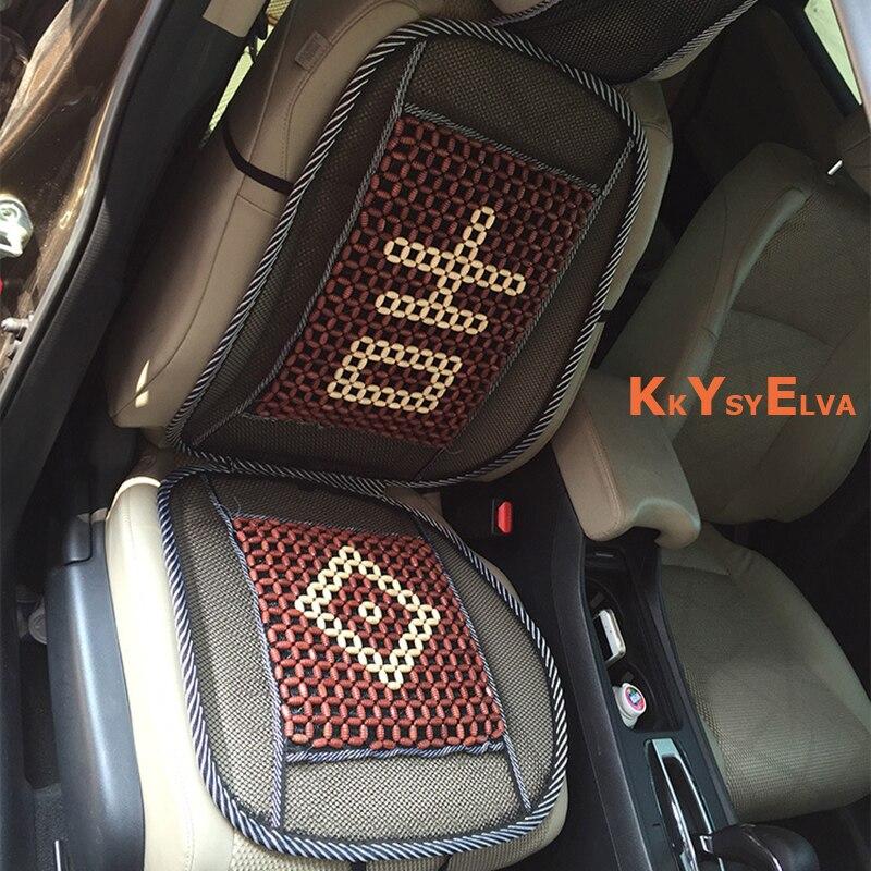 KKYSYELVACar Covers 1PCS Summer Universal Auto Car Seat Covers Bambaoo Car Seat Cover Universal Cushion Car Interior Accessories