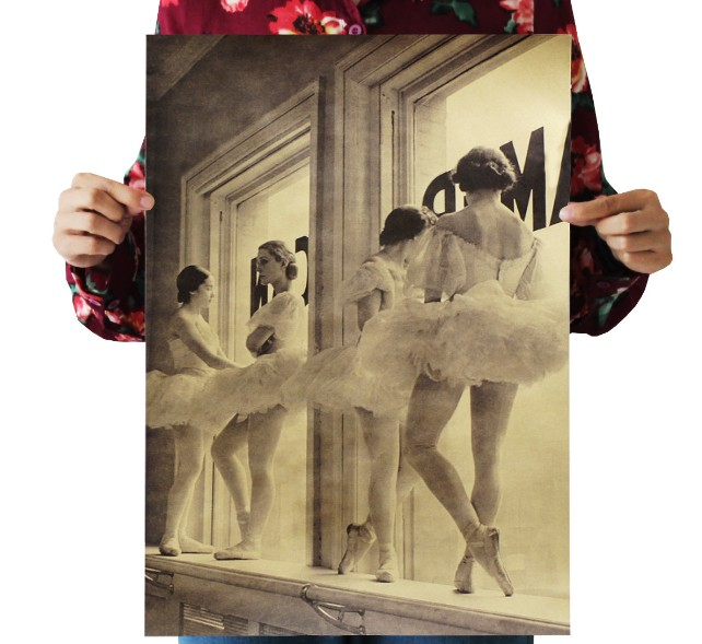 Ballet Girls In The Rest Vintage Kraft Paper Movie Poster Map Home Decor  Art  Retro Posters And Prints Decorativos