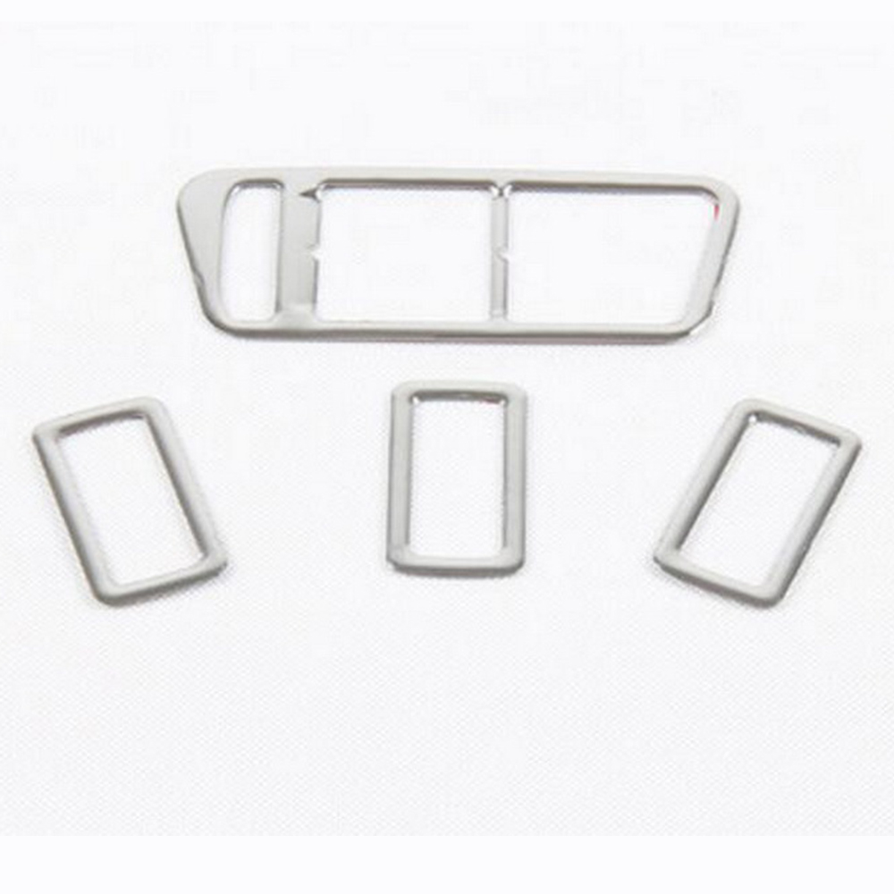 For VW Golf Mk7 2014 Left Hand Drive 4PcsSet Car High Quality ABS Chrome Interior Door Window Switch Cover Trim