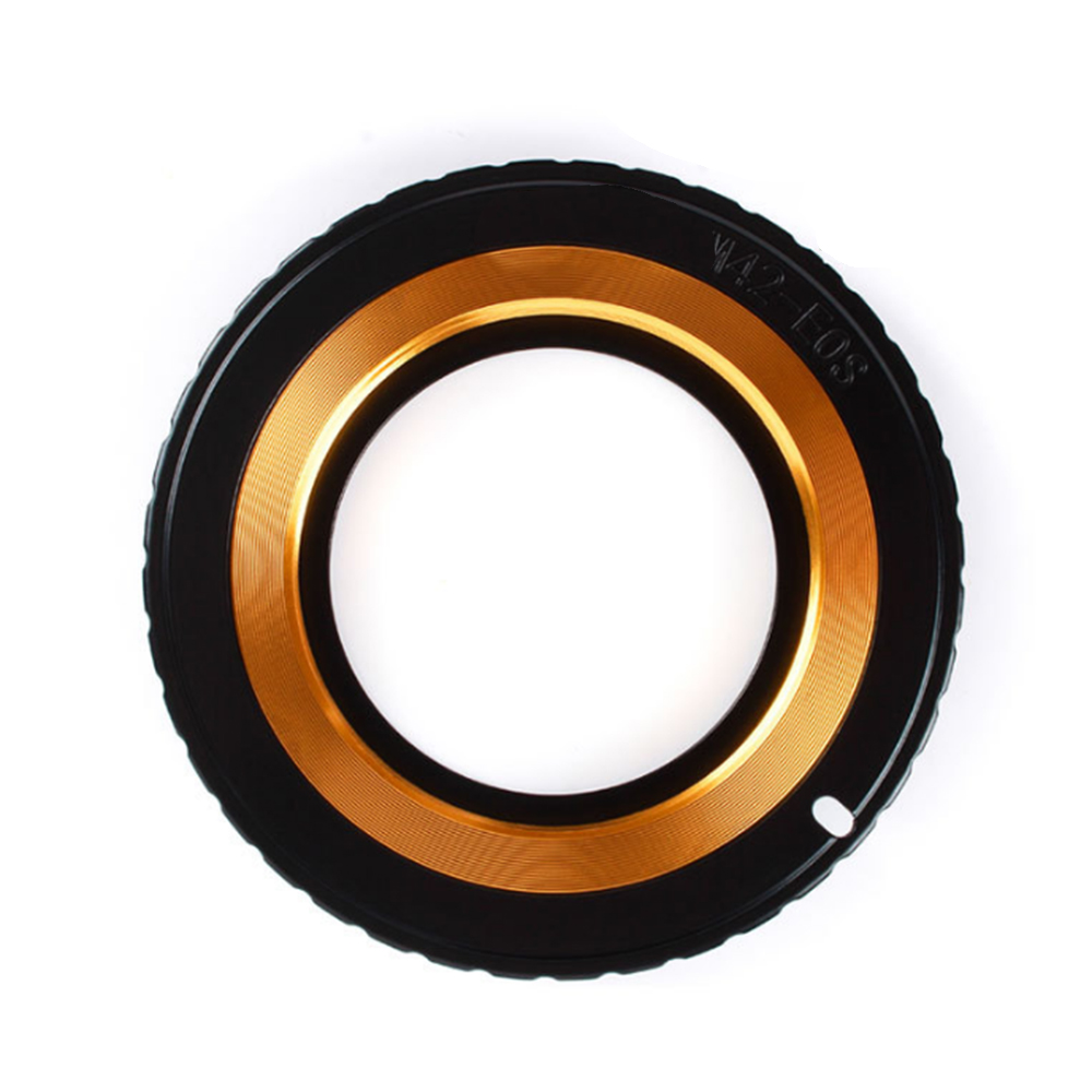 Metal para M42-EOS anillo adaptador de lente para lente M42 a Canon EOS EF 5DIII 5DII 5D 6D 7D 60D anillo de conexión ajustable adaptador de objetivos
