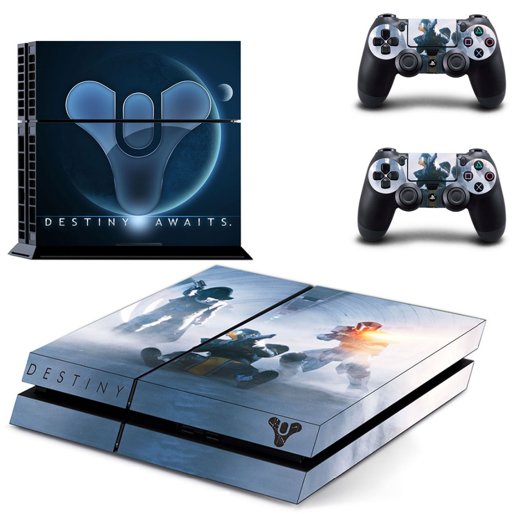 Game Destiny 2 PS4 Skin Sticker Decal For Sony PlayStation 4 Console and 2 Controllers PS4 Skin Sticker Vinyl