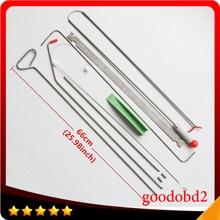 Herramienta de palanca para ganchos de abolladuras herramientas de bielas de acero con resorte, herramientas de reparación de abolladuras para coche sin pintura