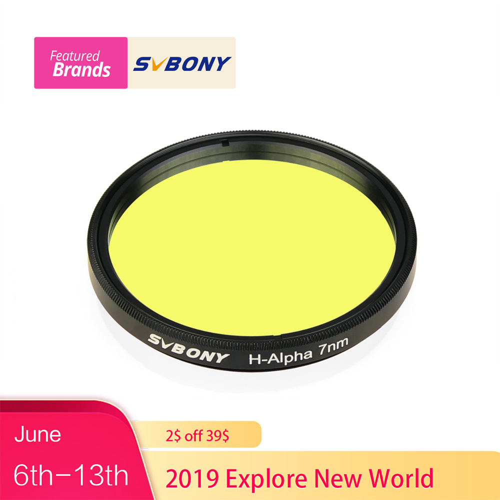SVBPNY H-Alpha 2 Filter 7nm Narrowband Astronomical Telescope Professional Astronomy Photographic CCD Filter for Deep Sky F9169SVBPNY H-Alpha 2 Filter 7nm Narrowband Astronomical Telescope Professional Astronomy Photographic CCD Filter for Deep Sky F9169