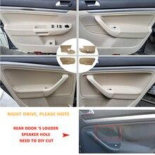 Apoyabrazos para manija de puerta de coche, cubierta de cuero de microfibra, solo 4 puertas, LHD, para VW Jetta 2005 2006 2007 2008 2009 2010/para Golf 5