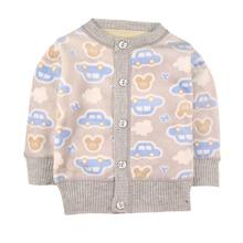 Весенние свитера для маленьких девочек; бархатный свитер-кардиган для маленьких мальчиков; детская теплая верхняя одежда с объемным рисунком; пуловер для малышей; зимняя одежда