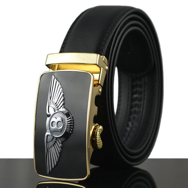 Luxury Leather Belt With Bentley Emblem