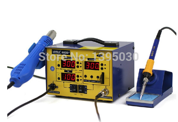 YIHUA 882D+ (Brushless fan) Lead Free 2 In 1 Soldering Station / Rework Station 720W yihua 950 lead free high frequency soldering station 150w 220v