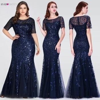 f66c9800f Vestidos de graduación de talla grande de Arabia Saudita 2019 siempre bonito  EZ07707 de manga corta de encaje apliques tul sirena vestido largo vestidos  de ...