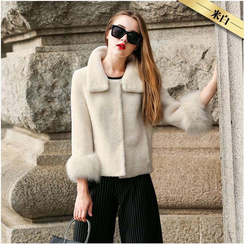 invierno de mujer de chaqueta piel de chaqueta Mouton las abrigo OHqY0w7