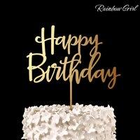 Szczęśliwy Birthday Cake Topper dla dzieciaka 1st Urodziny/Baby Shower Dekoracje Świąteczne