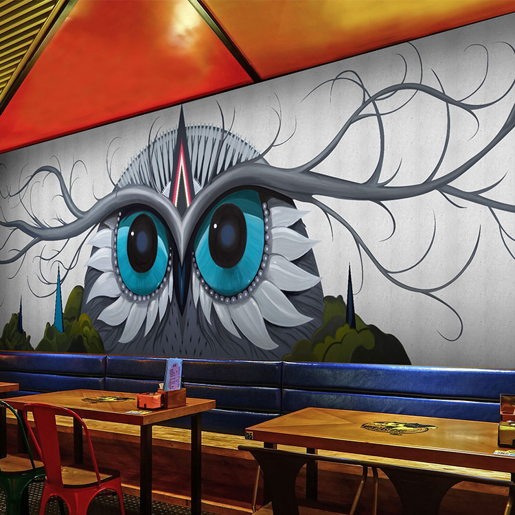 Custom Size Photo 3D Cartoon owl mural living room sofa TV background wall coffee house bedroom lobby wallpaper mural