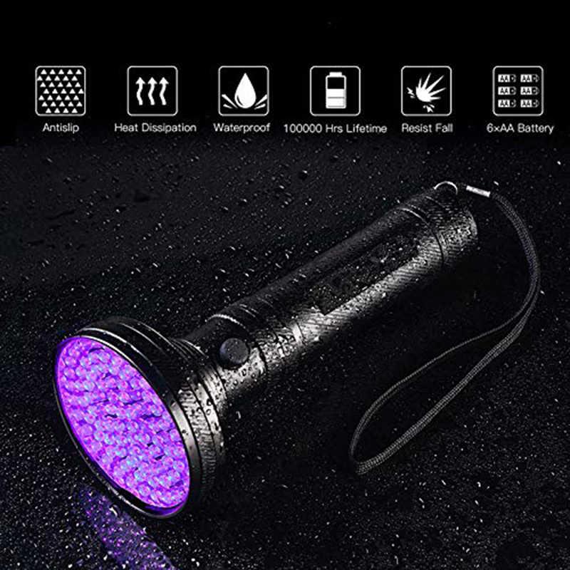 УФ-Фонарик черного света супер яркий 10 Вт 100 светодиодный 395 нм фиолетовый ультра ручной фонарь Ультрафиолетовый фонарь для денег, кровати жуков, скорпионов
