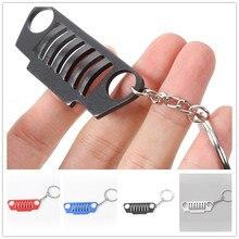 1 шт. брелок для ключей из нержавеющей стали, металлический хромированный брелок для Jeep Wrangler CJ JK TJ YJ XJ, автомобильный Стайлинг, Новинка