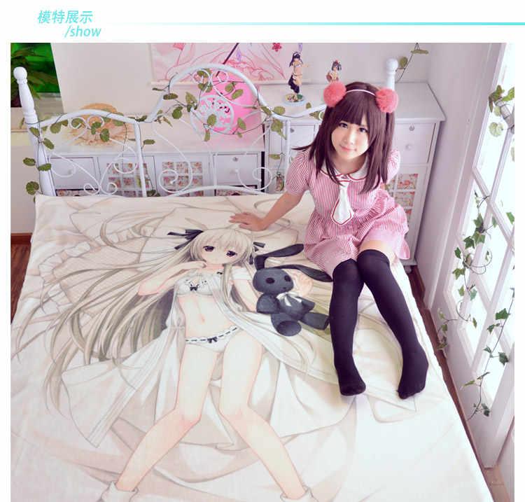 Japanese Anime Kaguya Luna Printed Bed sheets  wholesale bedsheet cosplay fans bed sheets