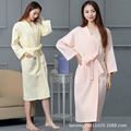 men and women in spring and summer cotton waffle couple bathrobe Nightgown cotton pajamas clothing beauty salons bath