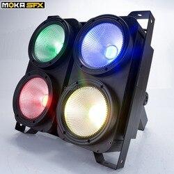 New Product 2pcs/lot 4*100w audience par light colorful RGB LED blinder light professional stage lighting blinders